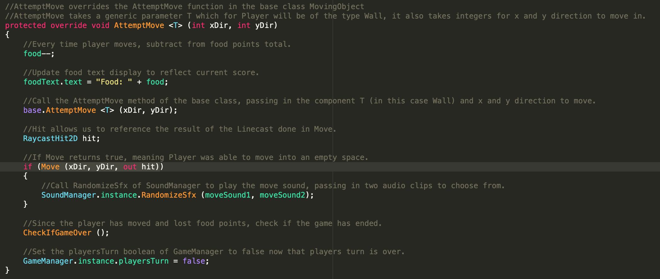官方课程Roguelike的一点问题