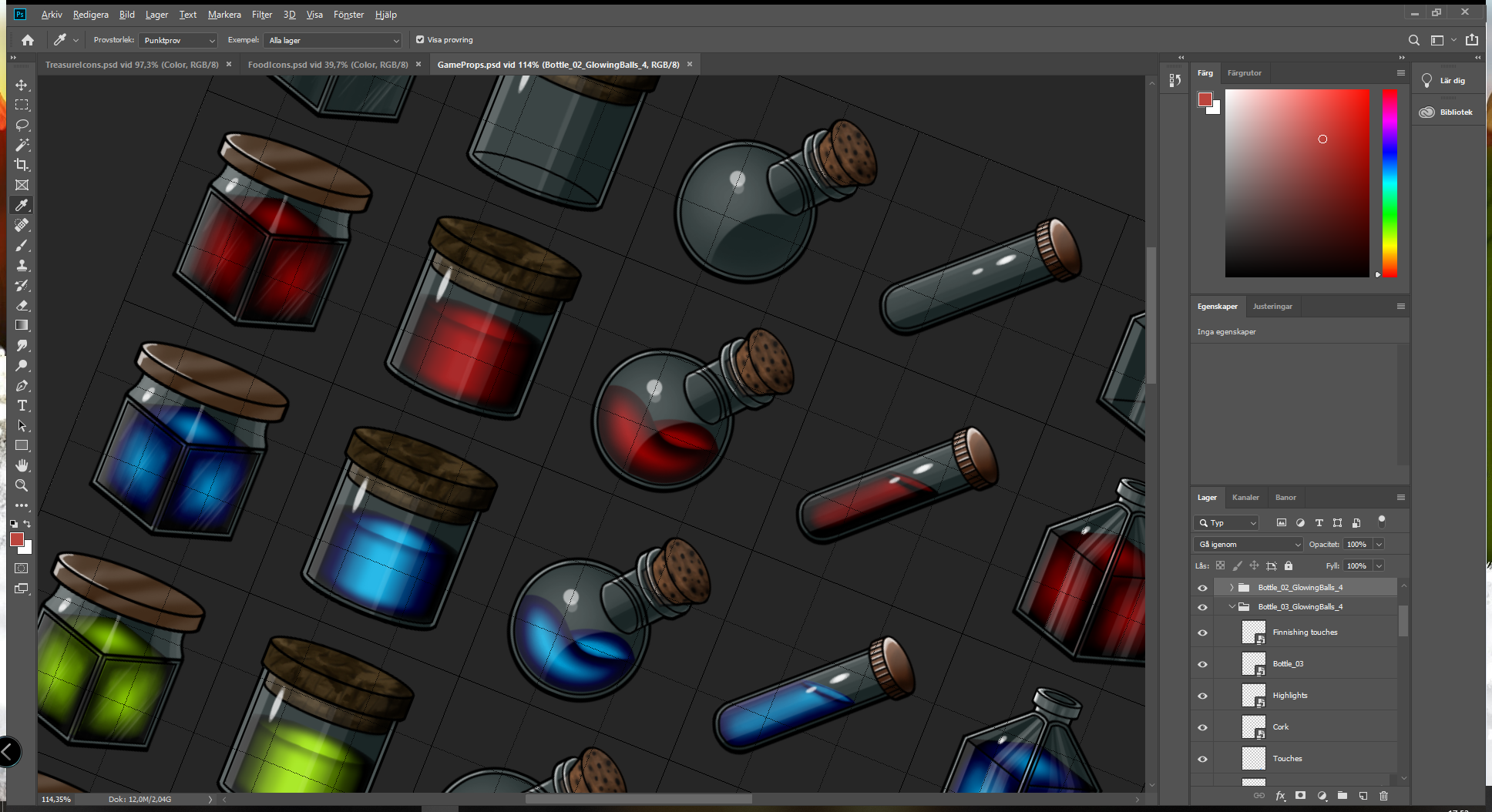 In progress: Game Prop Inventory Icons