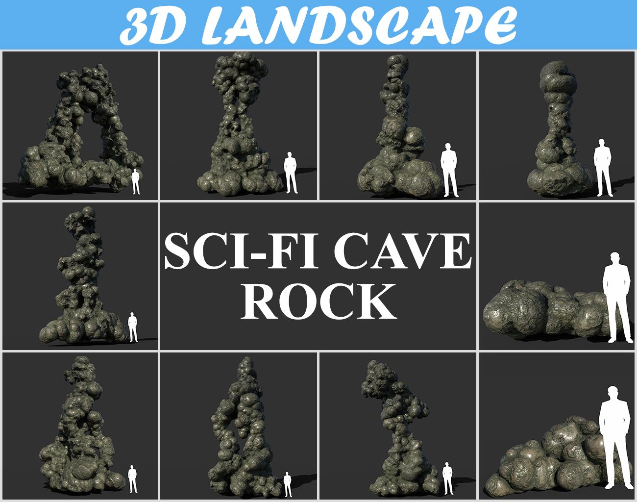Low poly Rock Collection - 3D Landscape