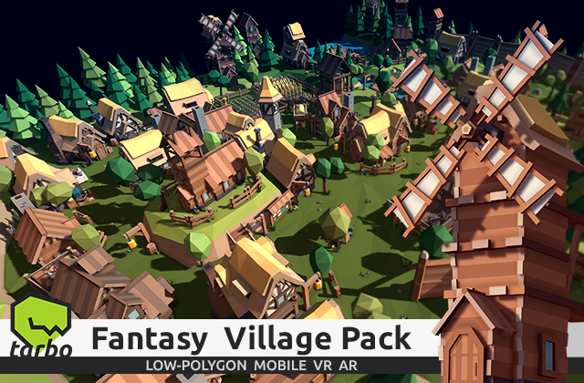 TARBO - Lowpoly Fantasy Village Pack