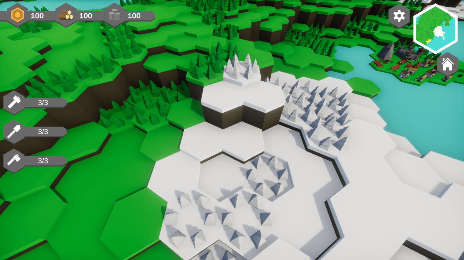 Hexagon game in the making