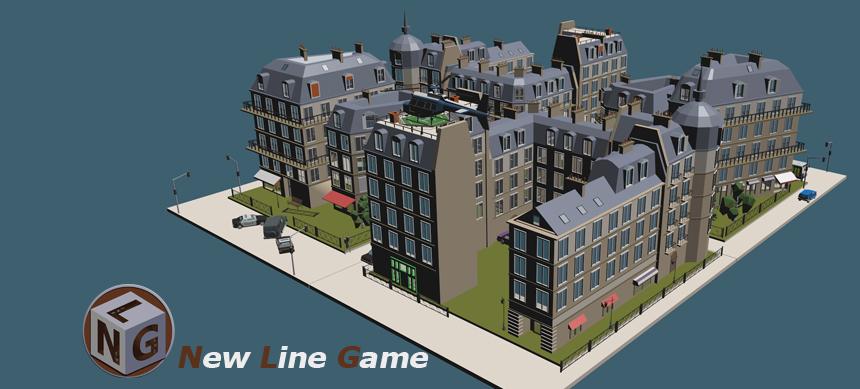 Paris::Colorful Town:: - Low Poly Assets