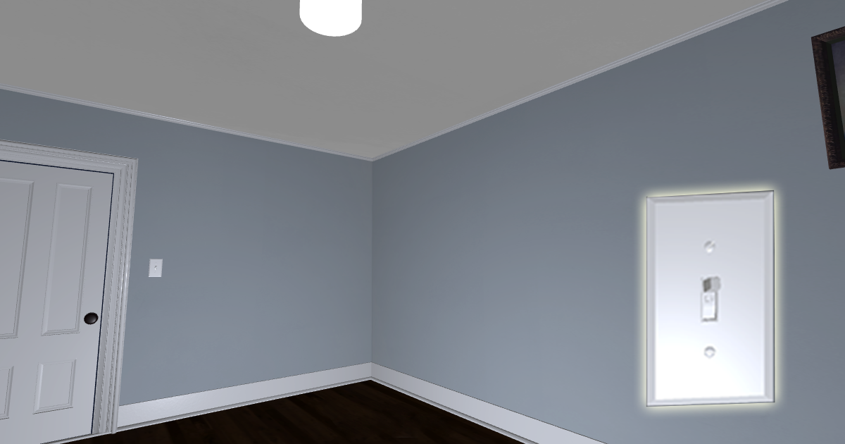 Small VR Room with Functional Light Switch