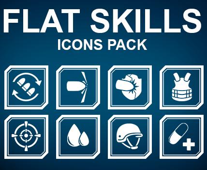 Flat skills icons pack