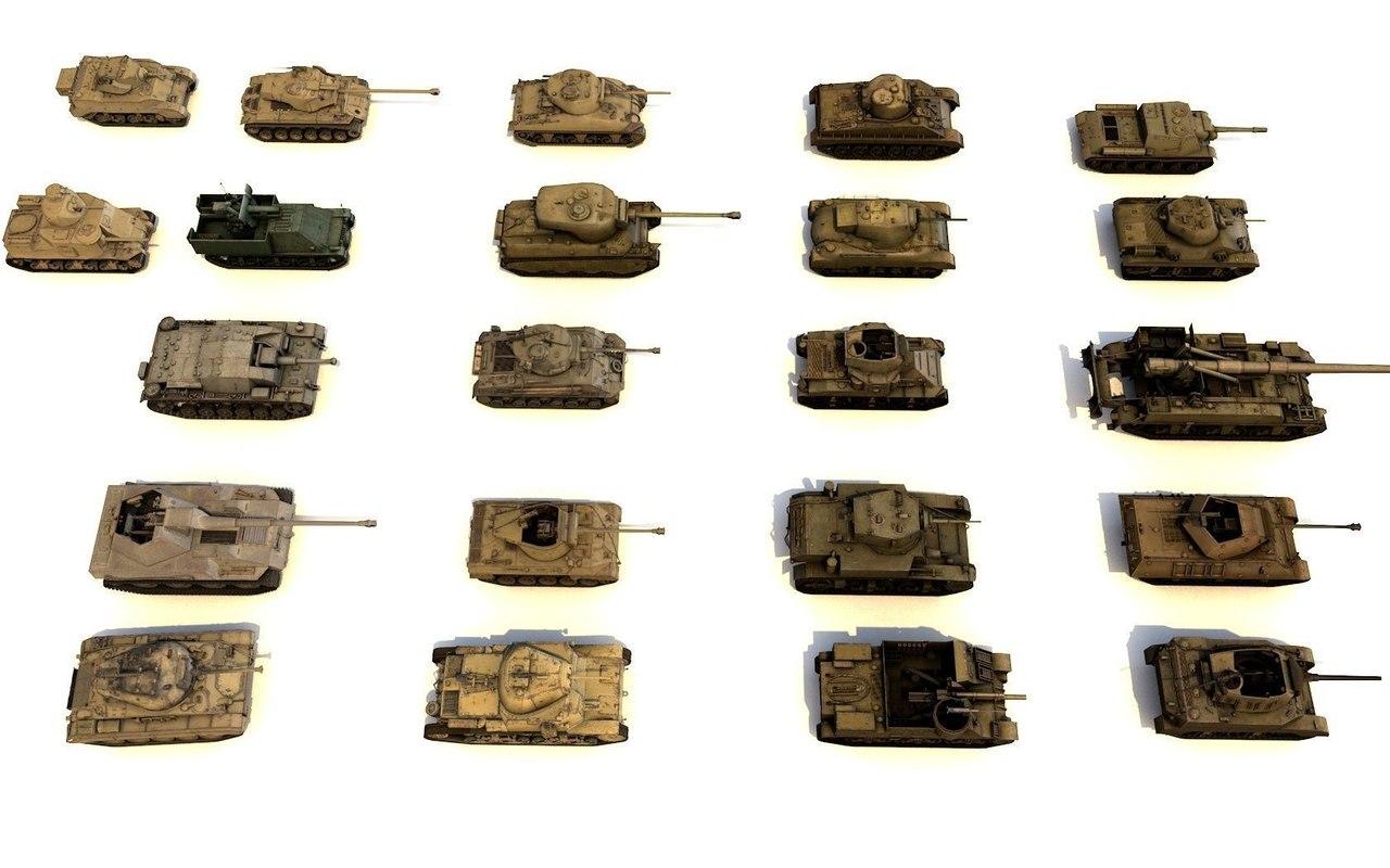 TANKS 3D MODELS FOR GAMES