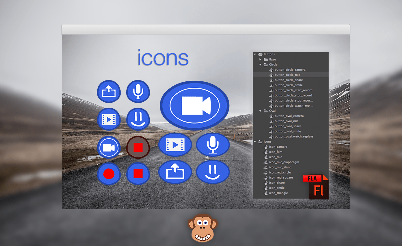 Free Video Icons: Gameplay Recording & Video Sharing