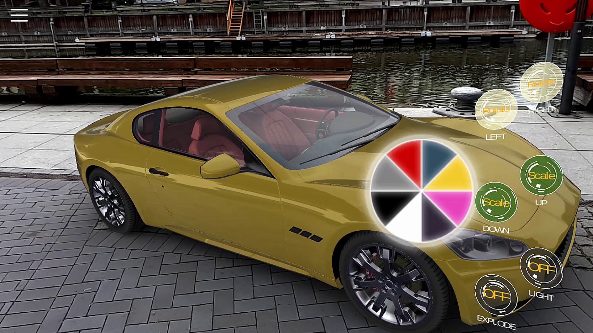Augmented Reality Realistic Car Showcase