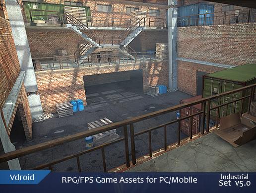 RPG/FPS game assets set v5 industrial (available on assetstore)