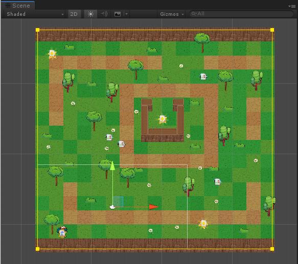 【Unity Playground】RPGマップ上のカメラ追従を誰でも簡単に実現できる、Camera FollowコンポーネントのUse Boundsの上手な使い方
