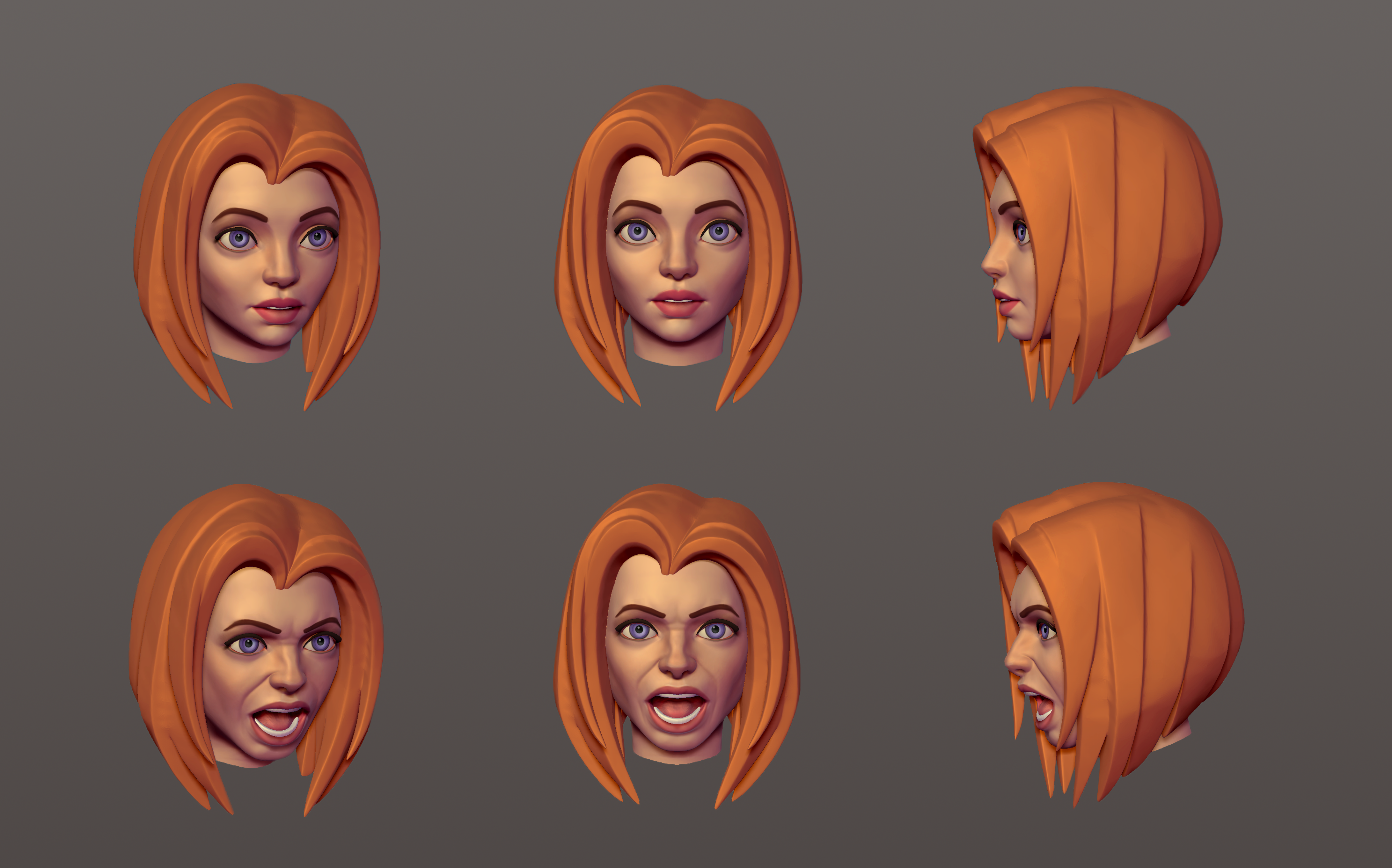 Zbrush female head practice