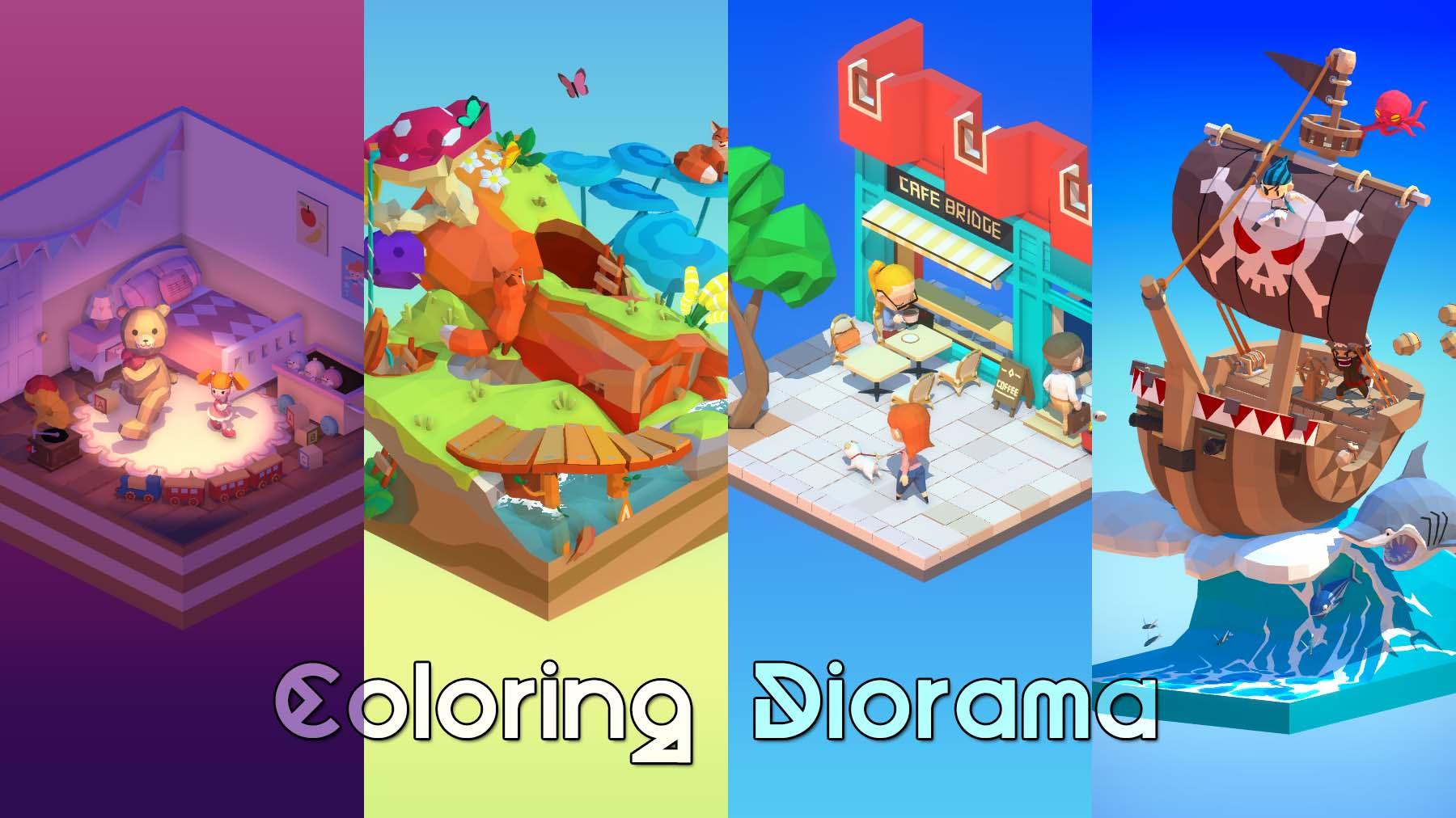 Coloring Diorama