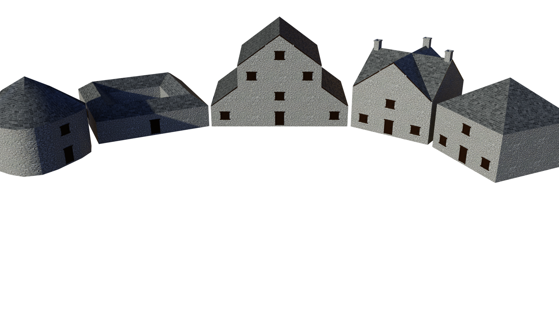 Low Poly Modular Building Pack Interior Exterior