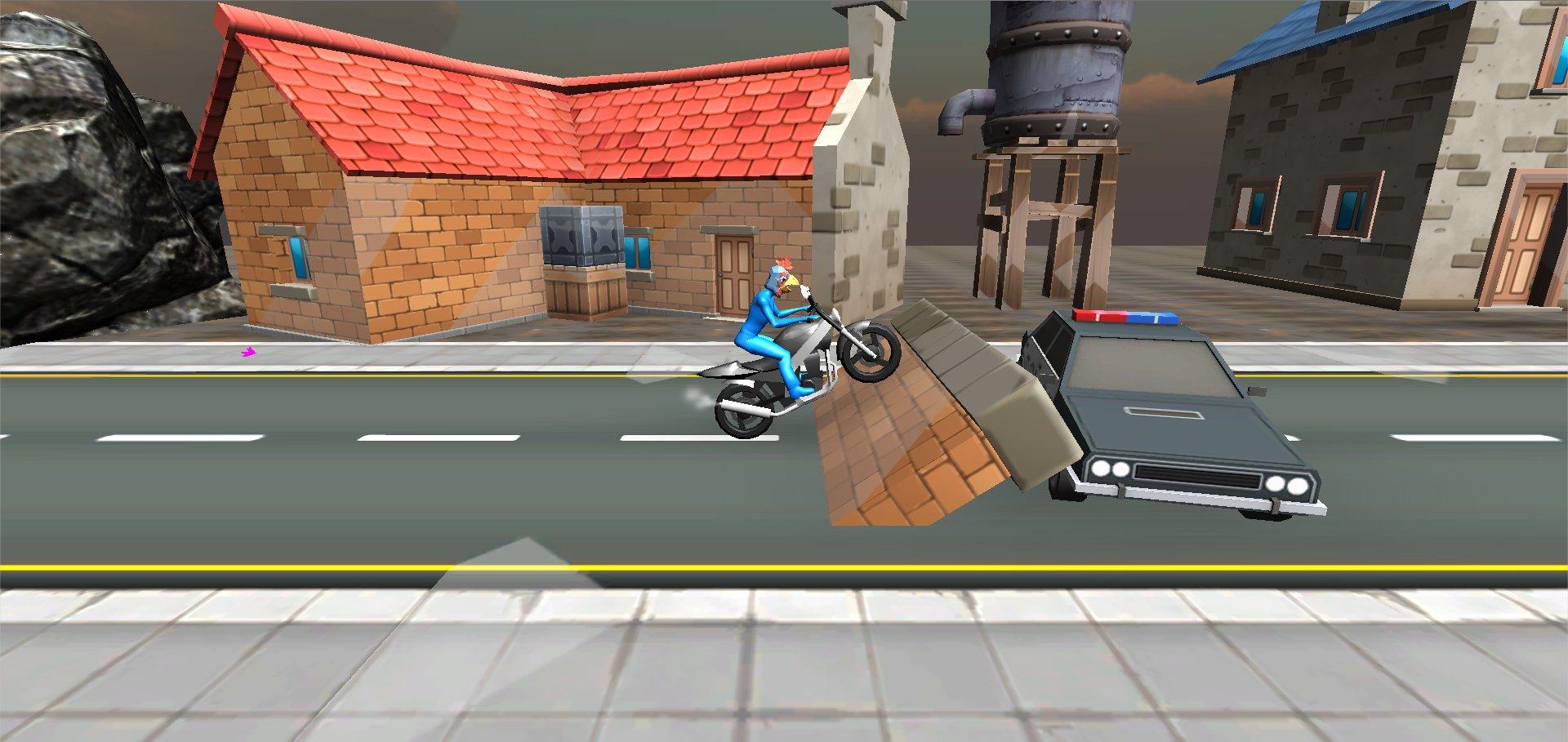Cartoon Motorbike Game Prototype