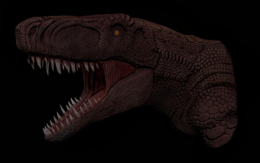 Postosuchus Head Render