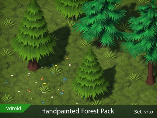 Handpainted Forest Pack v1.0 (available on assetstore)