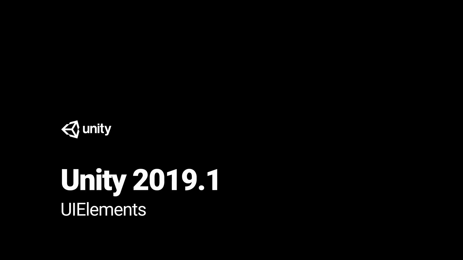 Unity 2019.1 - UIElements功能介绍
