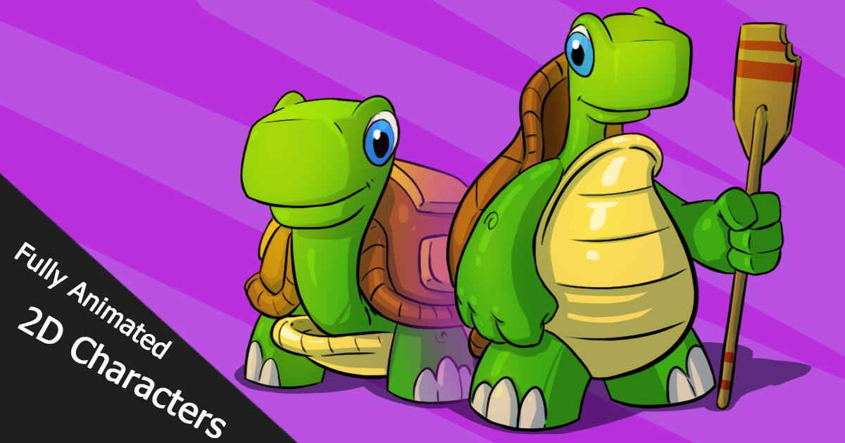 Animated 2D Turtles