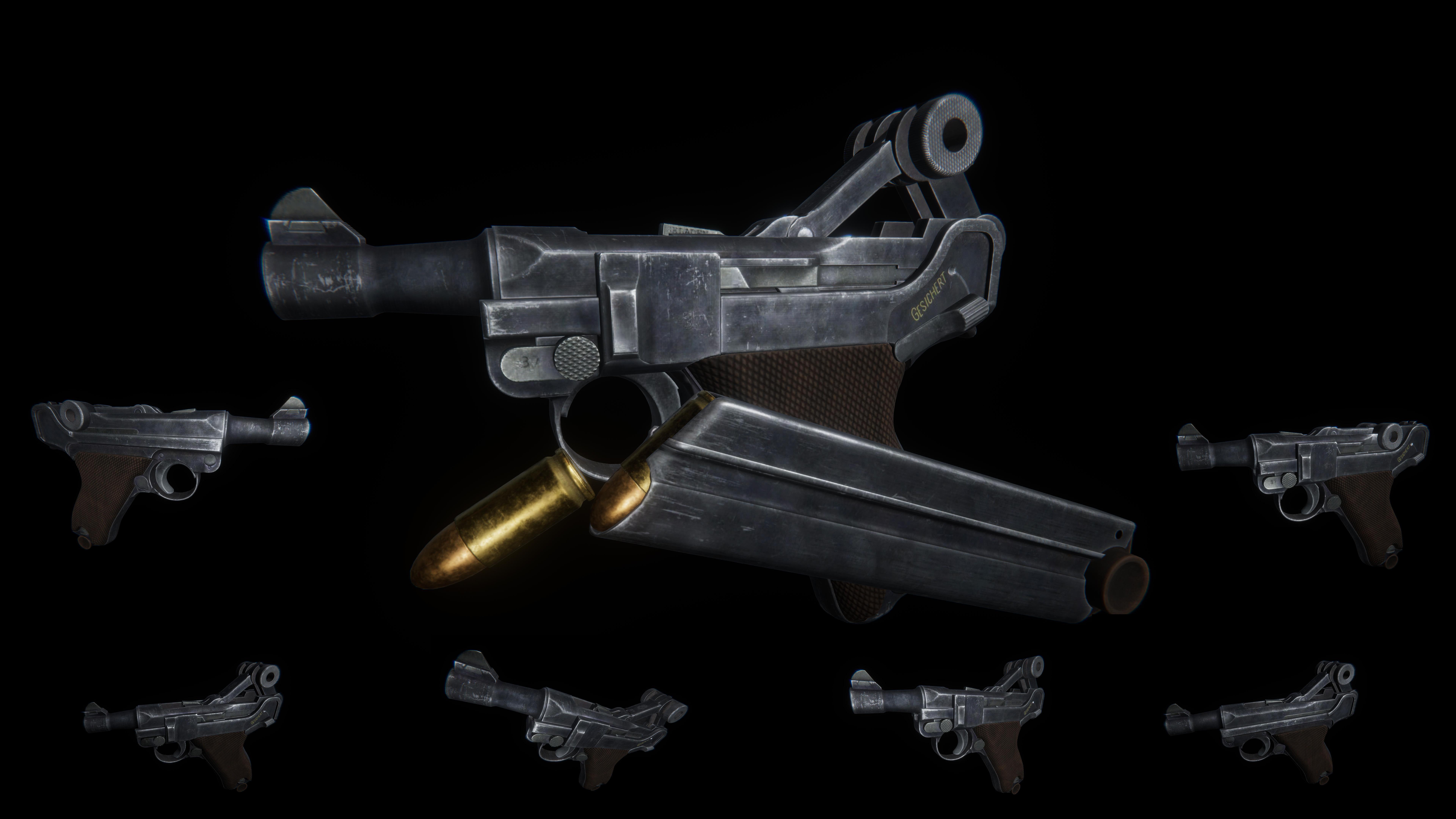 AAA Luger Pistol
