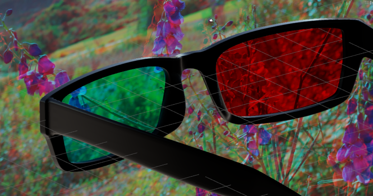 Anaglyph Glasses Simulation for Windows Mixed Reality Headsets