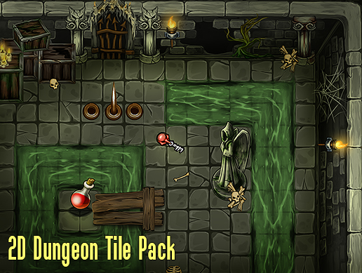 2D Dungeon Tile Pack