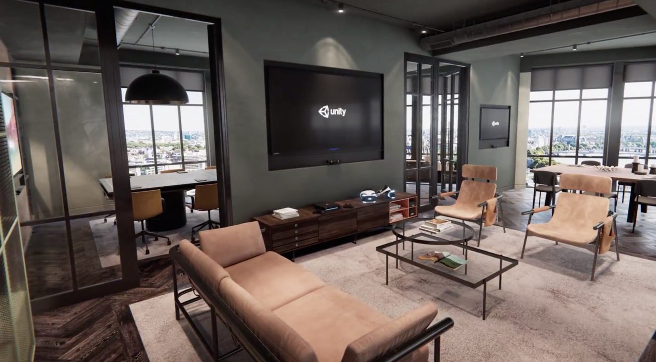 Unity伦敦新办公室实时渲染效果视频