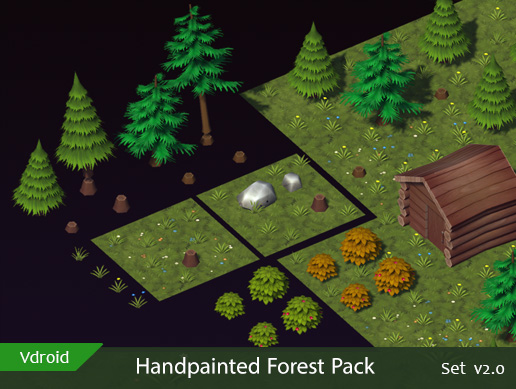 Handpainted Forest Pack v2.0 (available on assetstore)