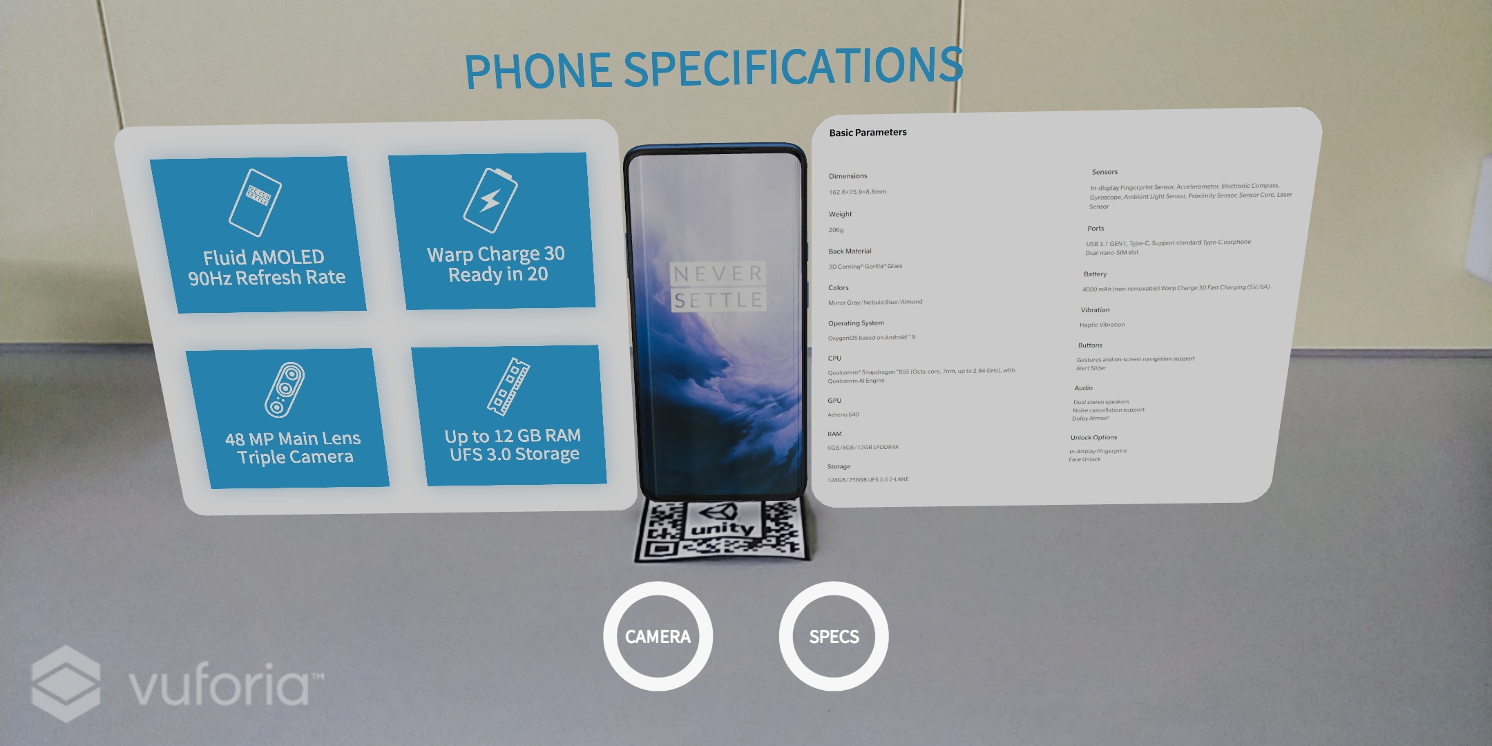OnePlus 7 Pro Augumented Reality app