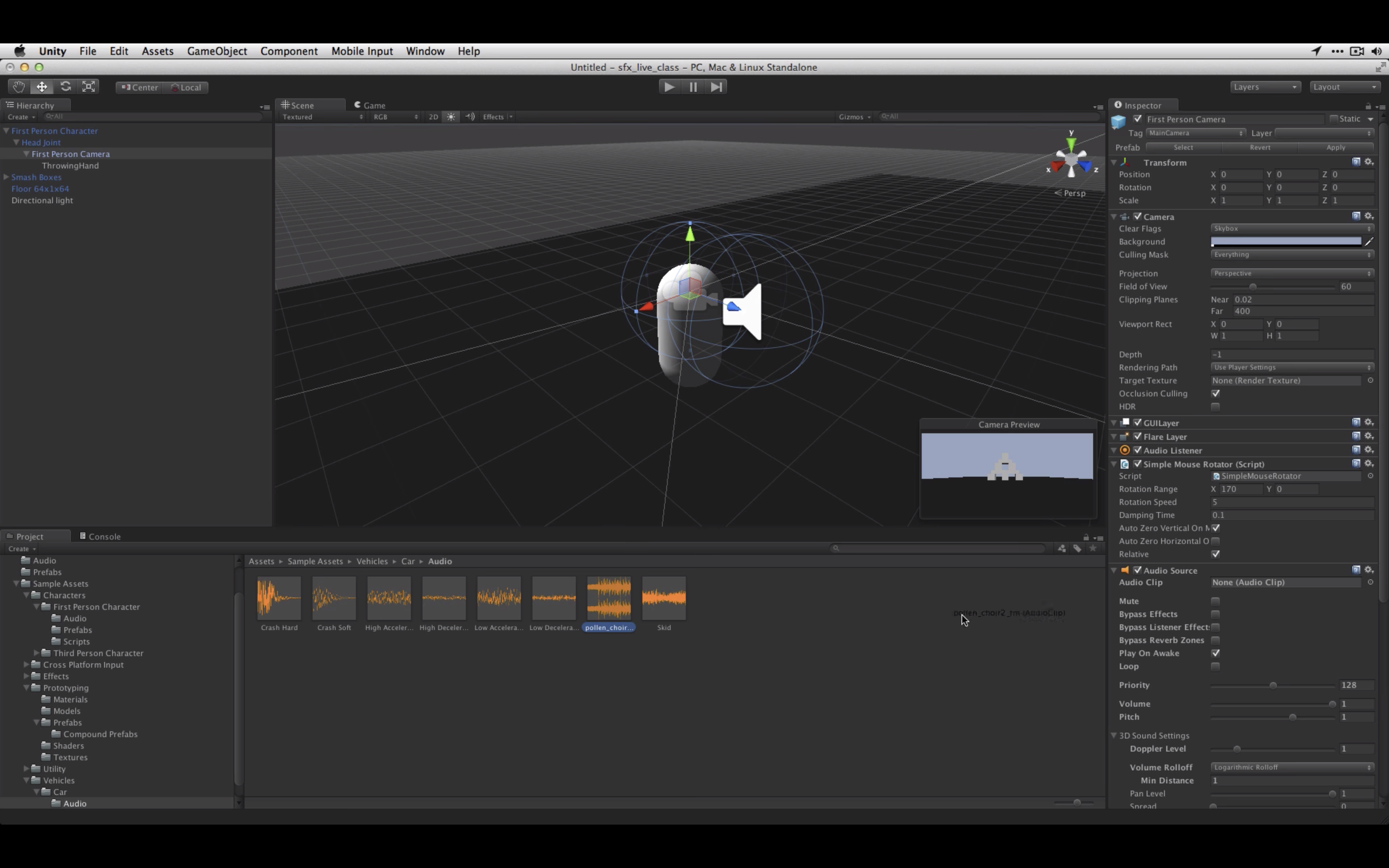 Sound Effects & Scripting - Unity Learn