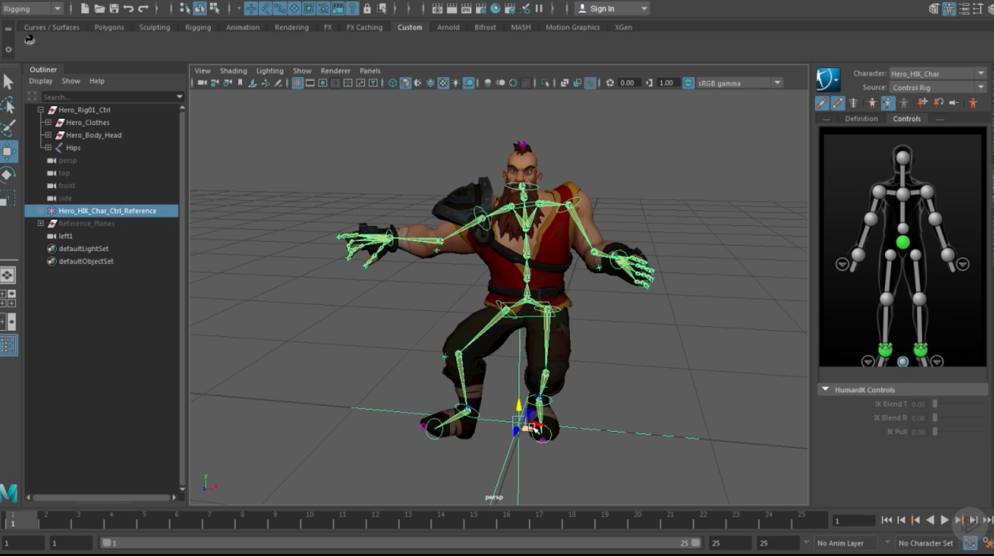 Animating Character Rigs in Maya - Unity Learn