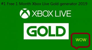 1 Free 1 Month Xbox Live Gold generator 2019 - Unity Connect
