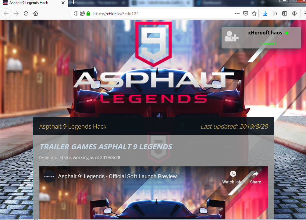 LEGALY#} Asphalt 9 Legends unlimited credits tokens
