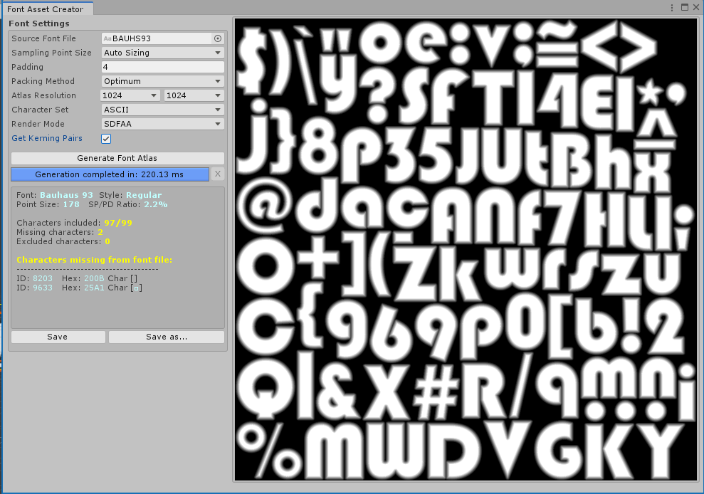 Textmesh Pro Font Asset Creation Unity Learn