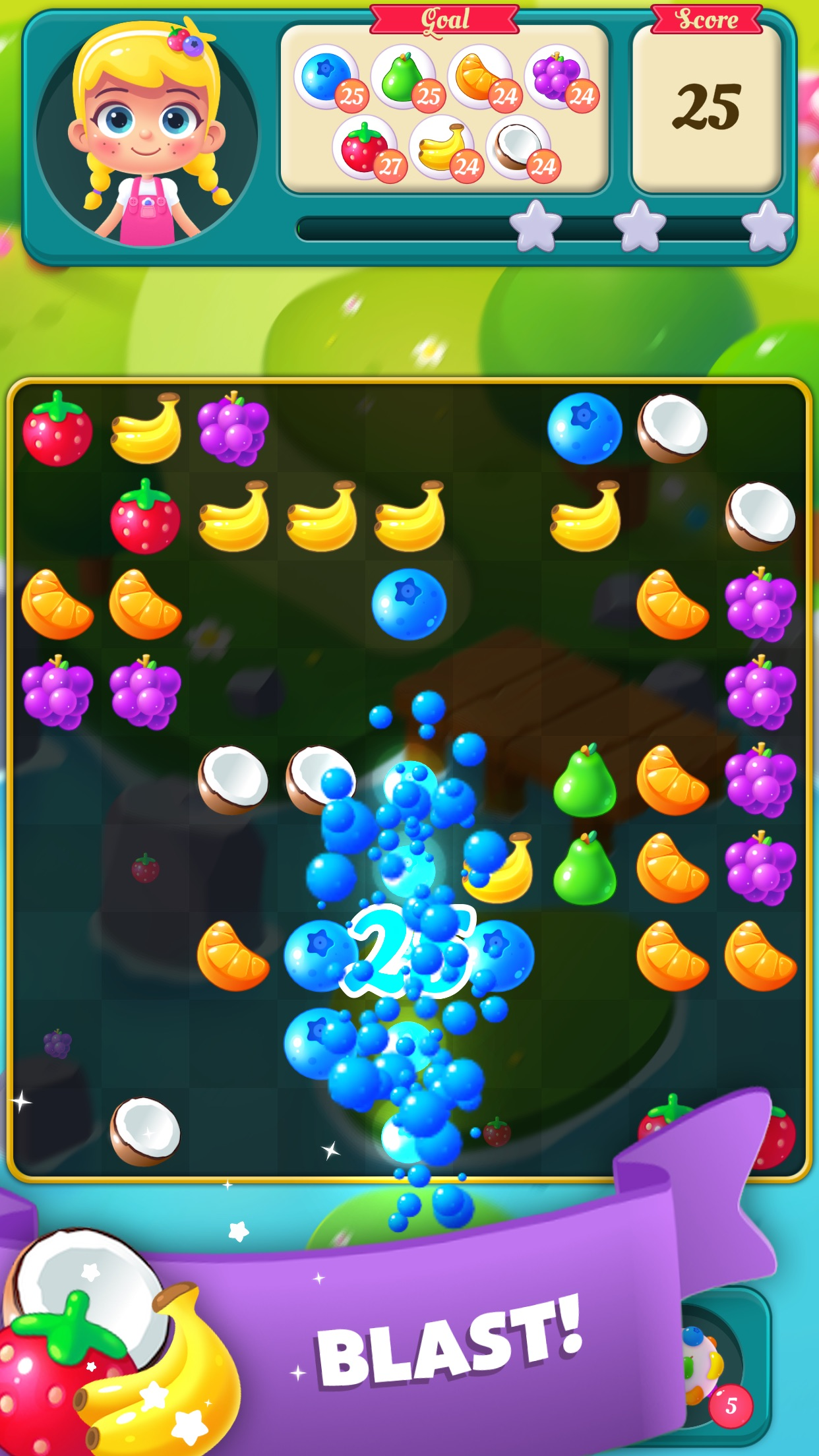 Screenshot 2: Fruit Blast Saga - Candy, Toon, Toy Crush & Match