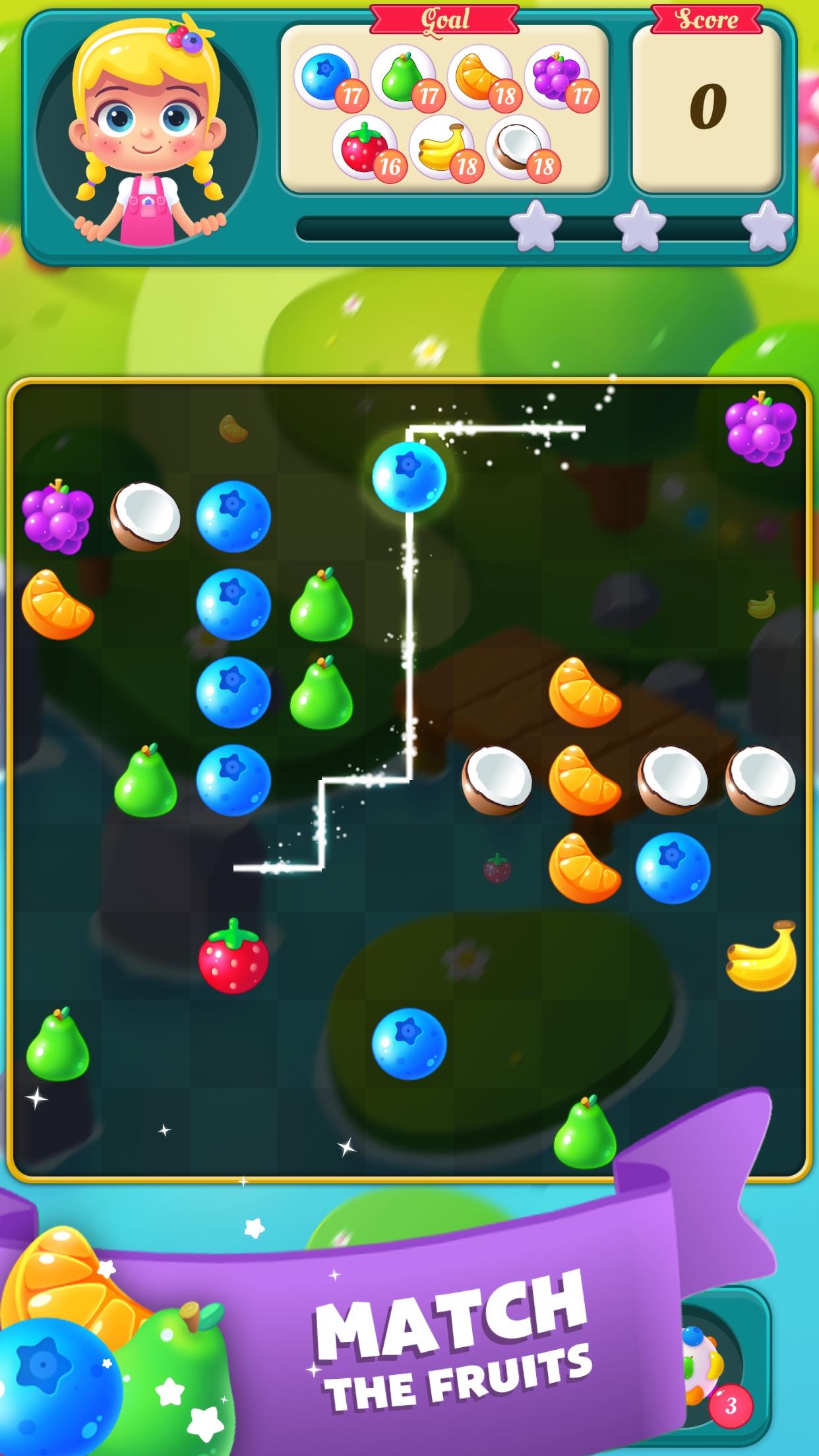 Screenshot 1: Fruit Blast Saga - Candy, Toon, Toy Crush & Match