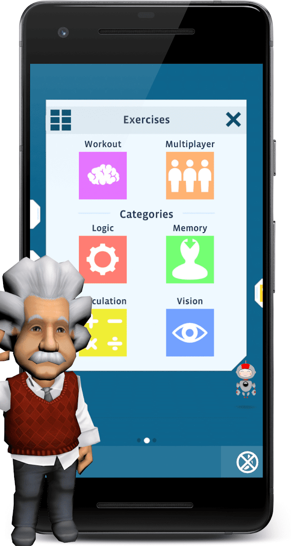 Screenshot 1: 愛因斯坦腦力強化訓練