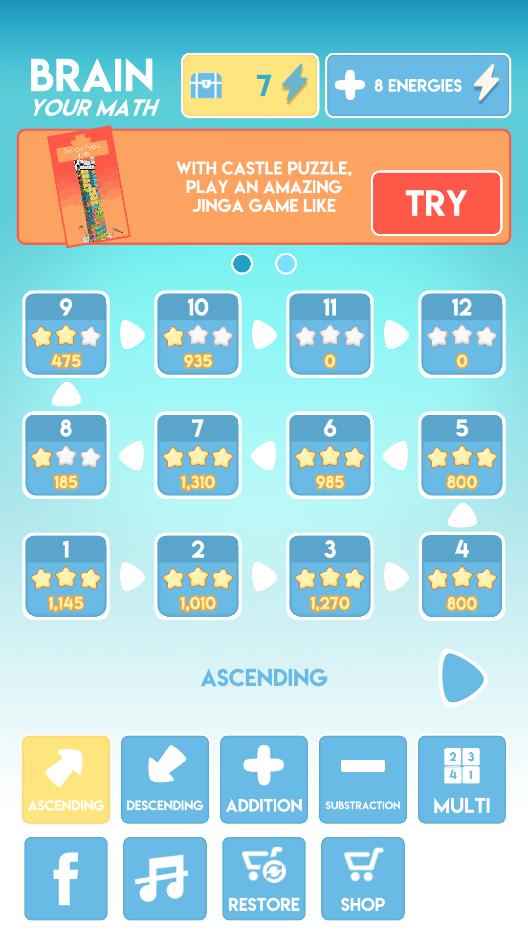 Screenshot 1: Speedy Math - Increase your IQ with fun puzzle