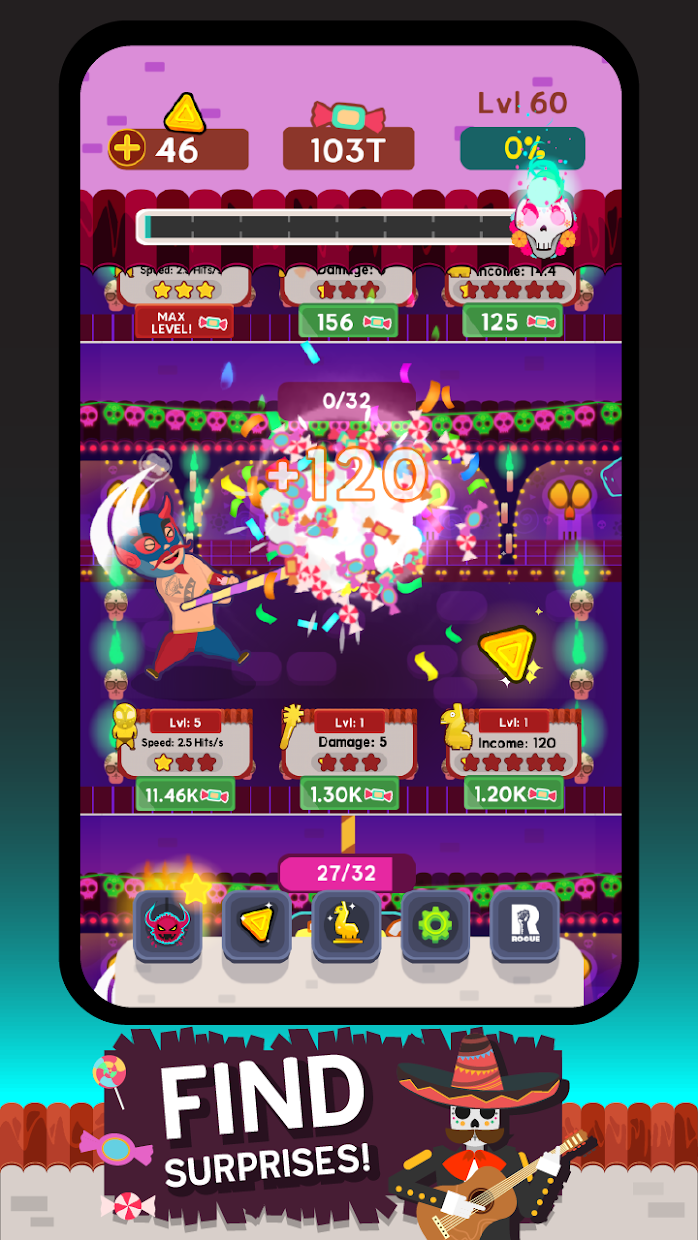 Screenshot 3: Pinata Punishers: Idle Clicker