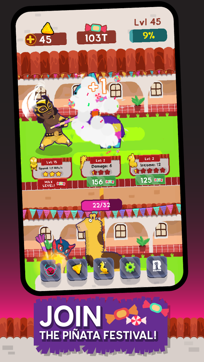 Screenshot 1: Pinata Punishers: Idle Clicker