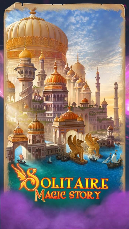 Screenshot 1: Solitaire Magic Story Offline Cards Adventure