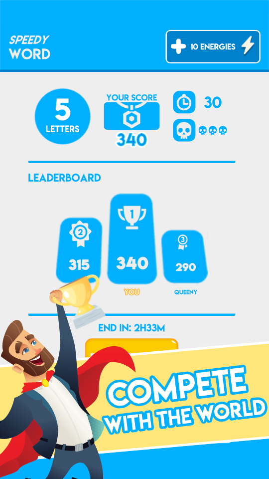 Screenshot 2: Speedy Word - Increase your IQ with fun puzzle
