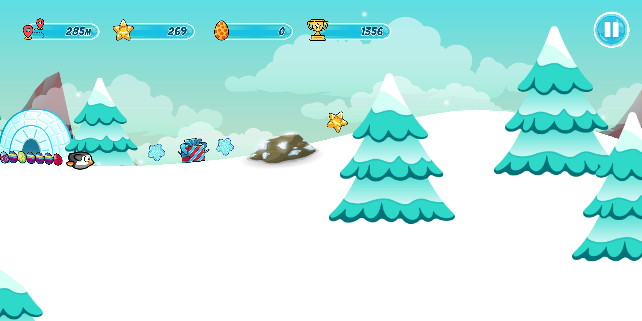 Screenshot 1: Pingo - the sliding penguin