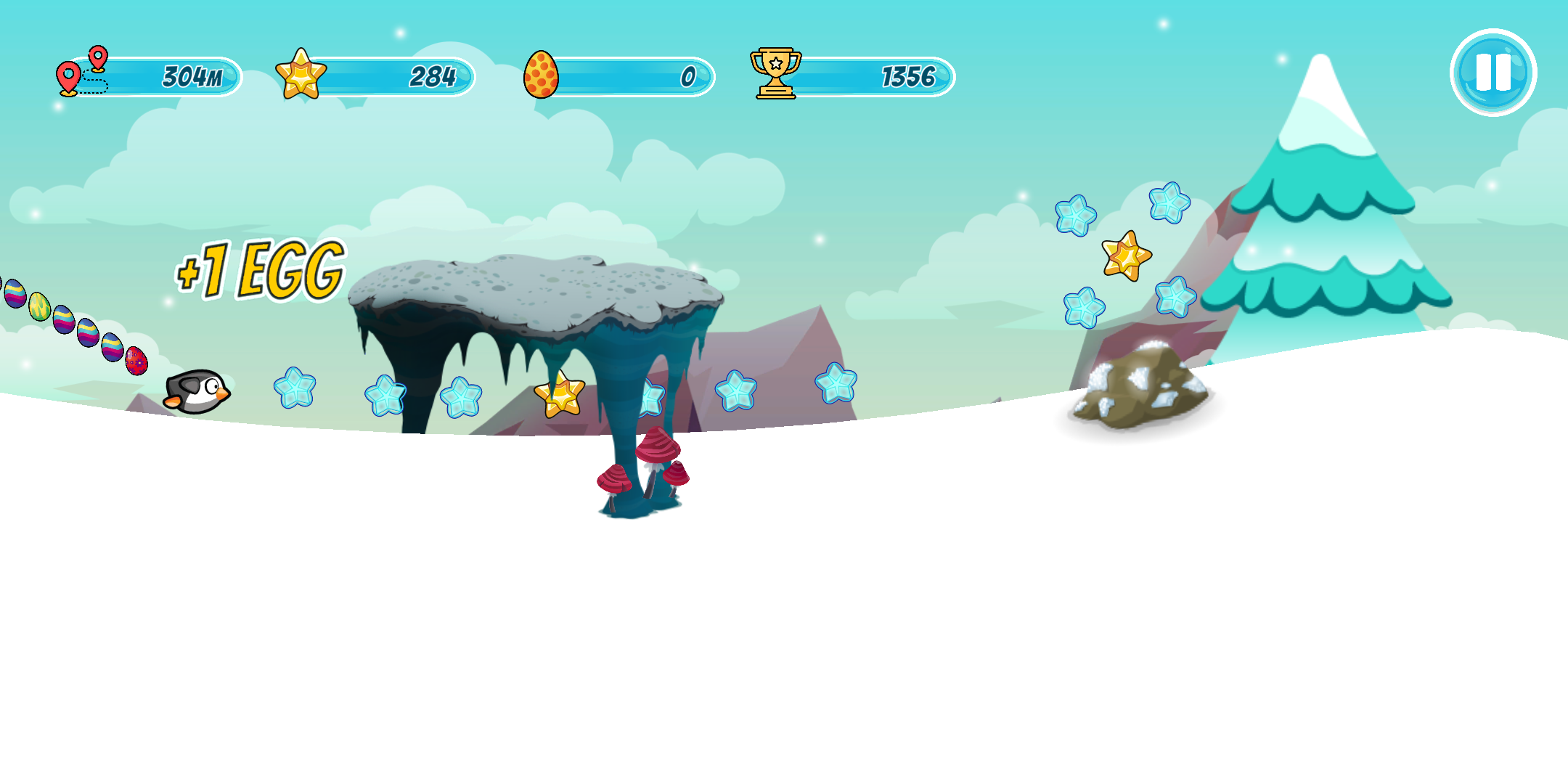 Screenshot 2: Pingo - the sliding penguin