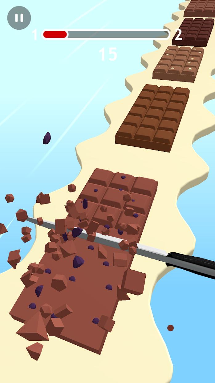 Screenshot 2: Chocolate Slicer Slice Candies