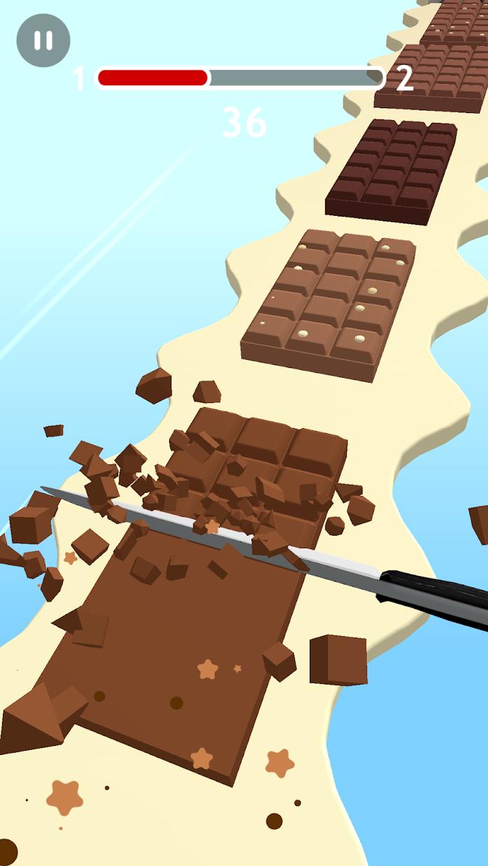 Screenshot 3: Chocolate Slicer Slice Candies