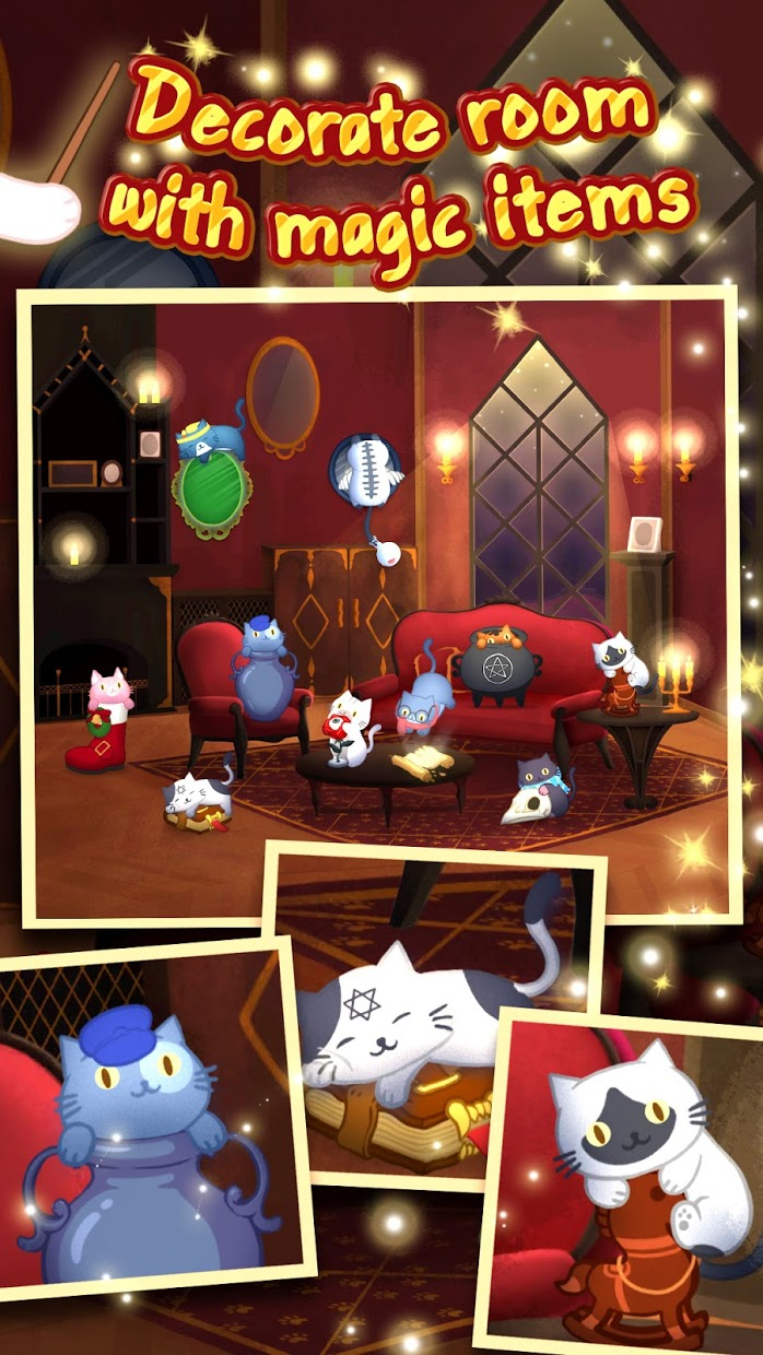 Screenshot 1: Cat Mansion - The magic cats