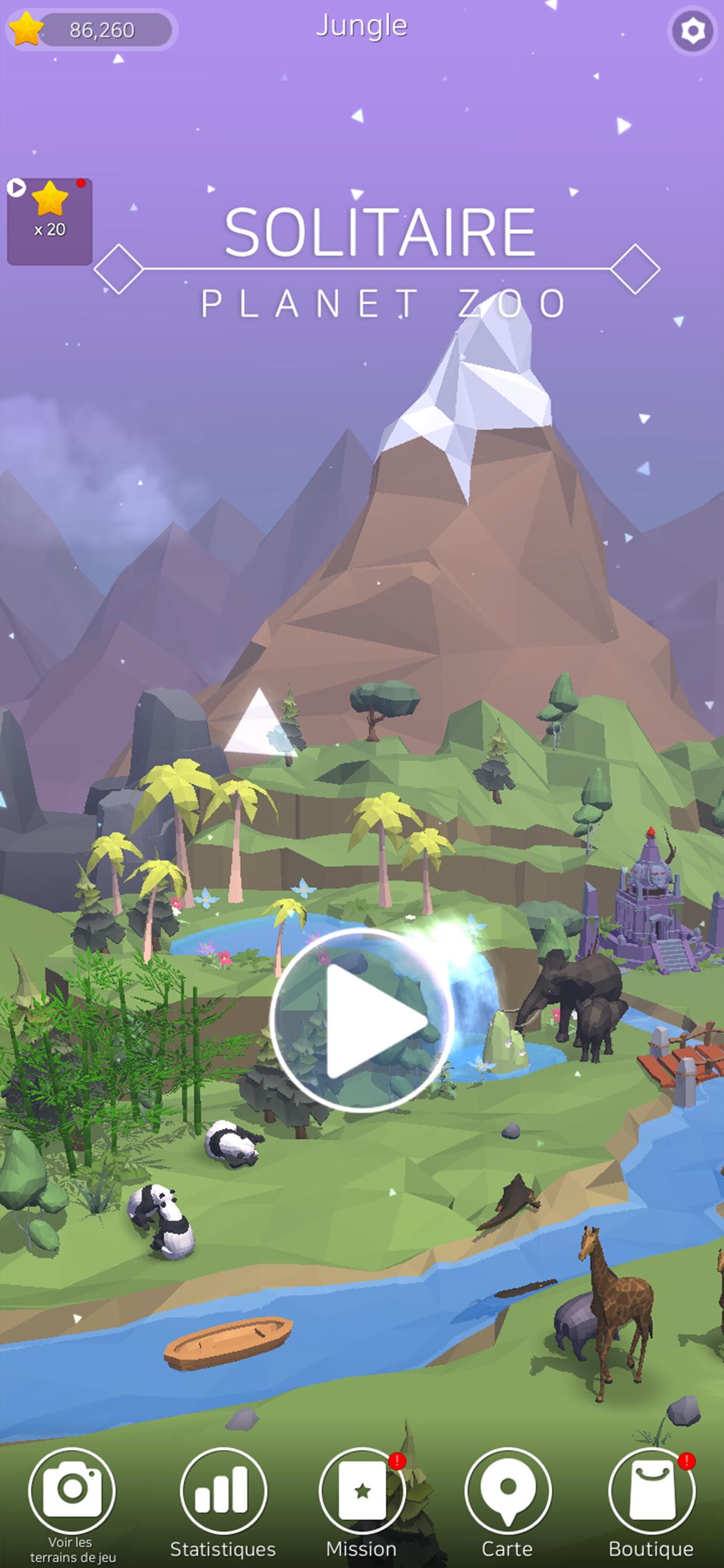 Screenshot 1: Solitaire Zoo Planet