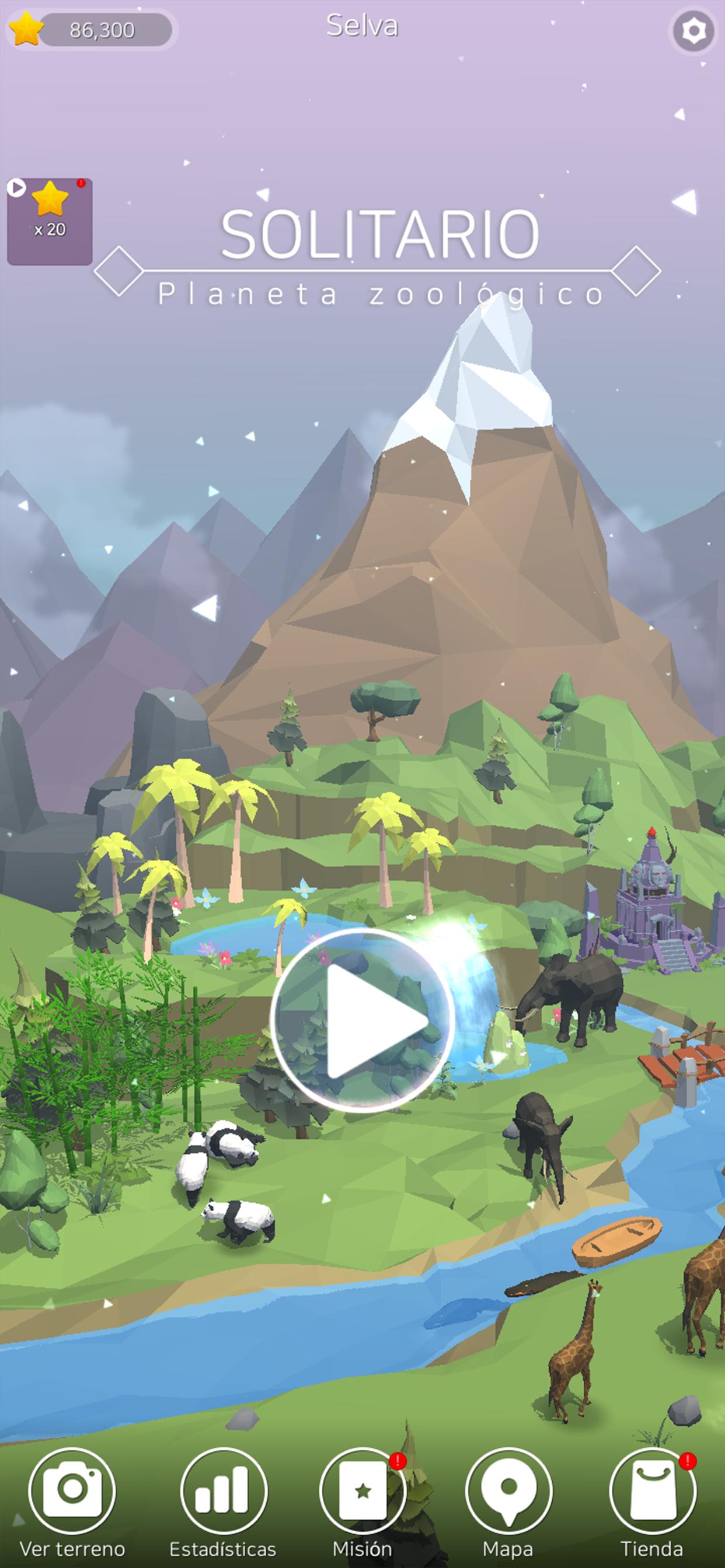 Screenshot 1: Planeta zoológico solitario