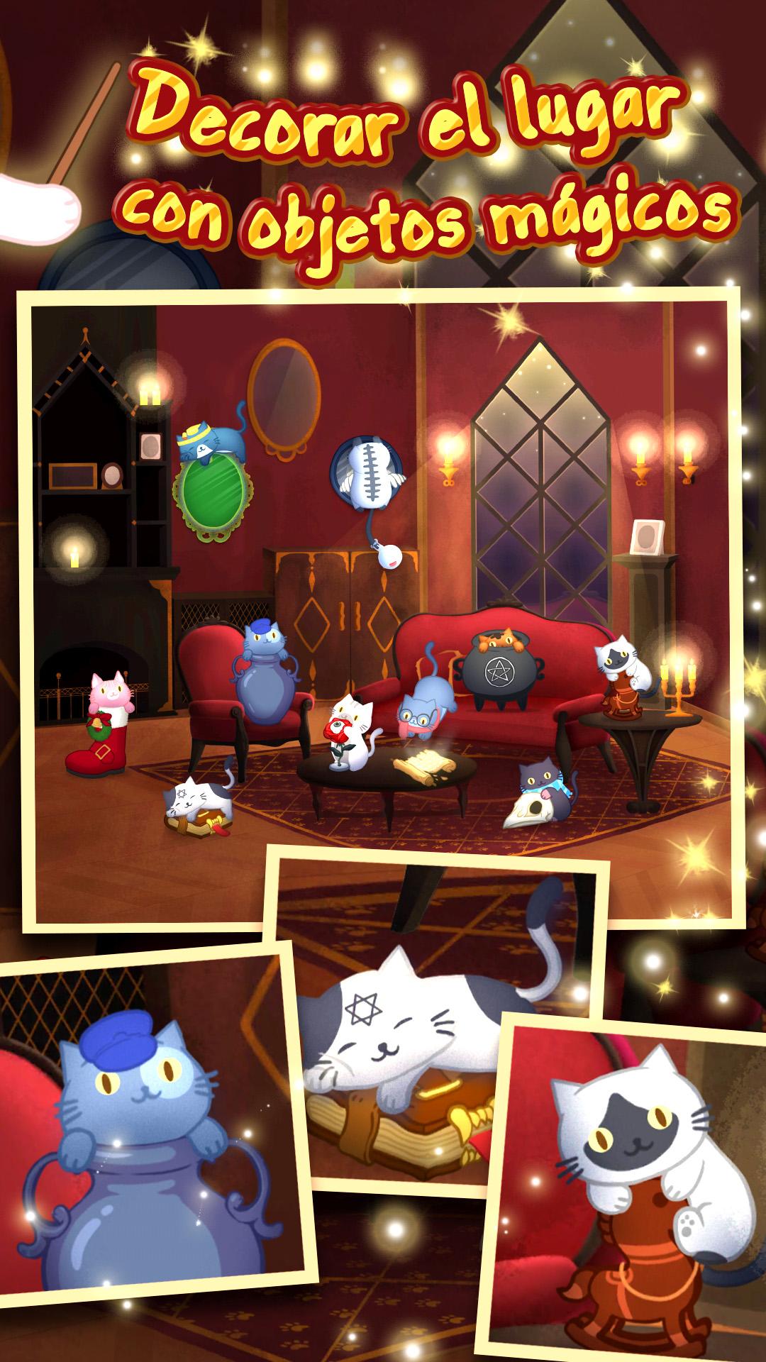 Screenshot 1: Cat Mansion - gato mágico