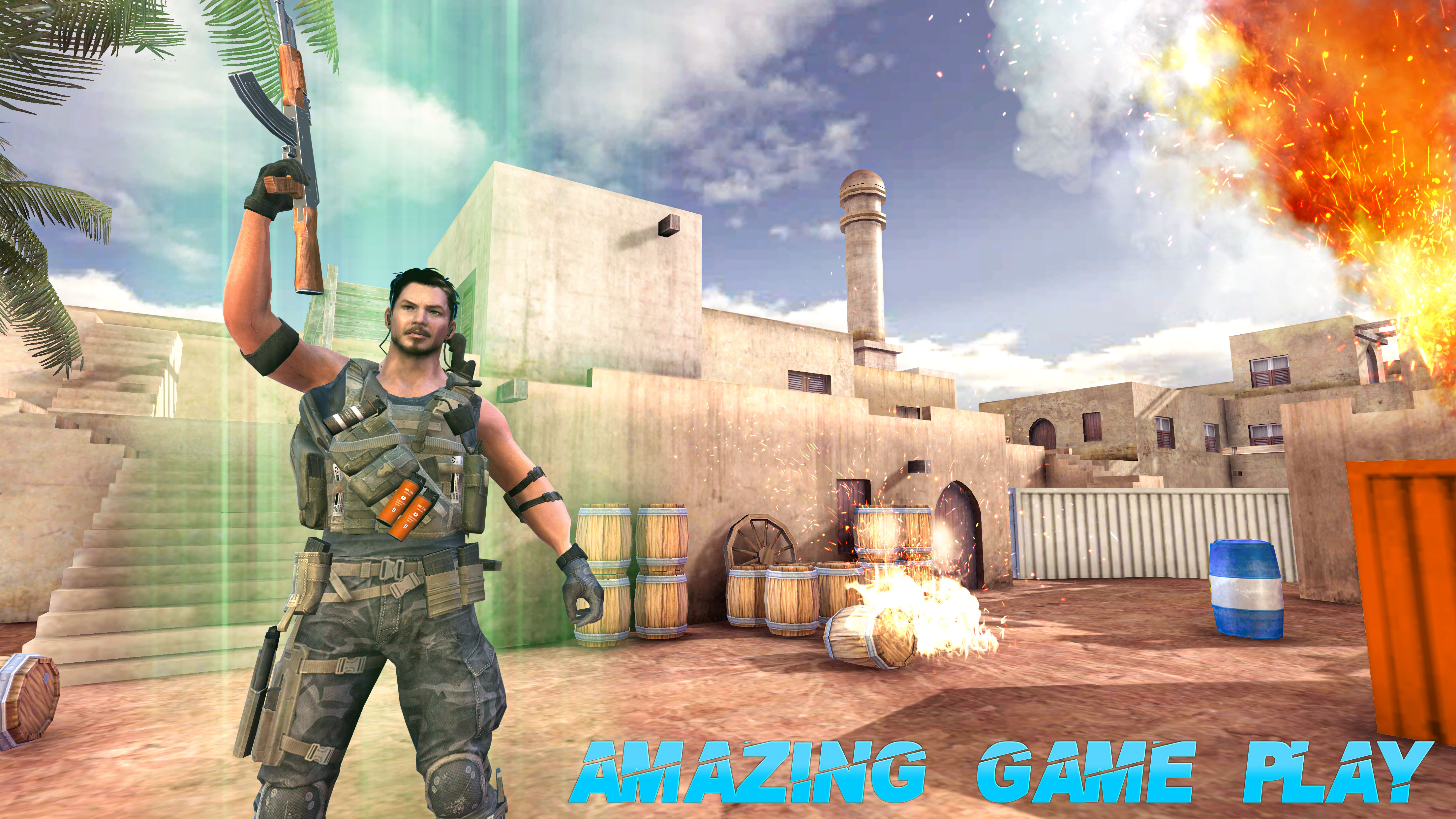 Screenshot 1: Real Terrorist Shooting Games: Gun Shoot War