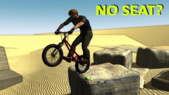 No Seat? Trial Biking